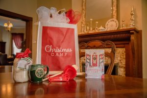 Christmas Camp Gift Bag mason jar cookie mix book