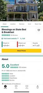 screen shot of Blessings on State Tripadvisor reviews