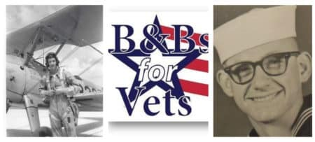Bnb's for Vets logo with two photos of American servicemen
