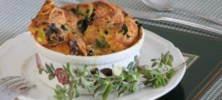 Fondue Florentine Souffle breakfast main dish