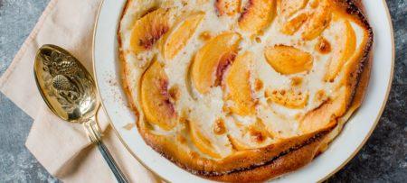 Peach Claufouti breakfast main dish